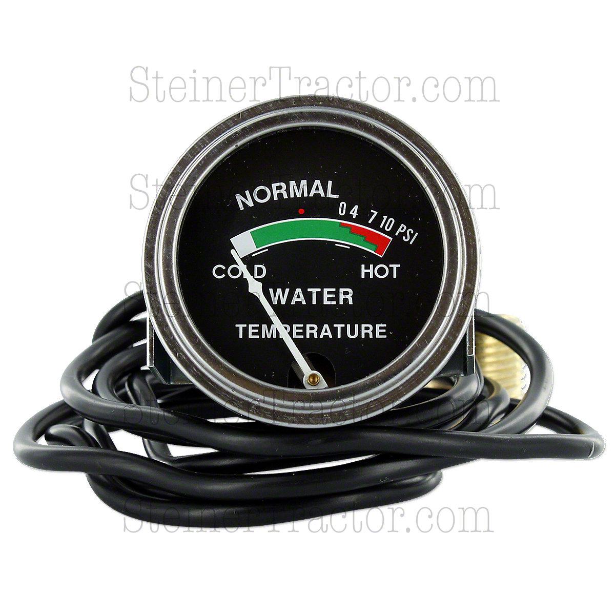 Water Temperature Gauge For Allis Chalmers  D10, D12, D14, D15, D17, H3, H4, HD3, HD4, I60, I600.