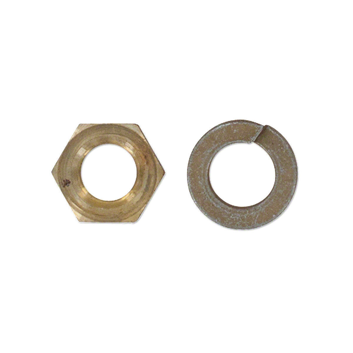 Brass Manifold Nut And Lockwasher For Allis Chalmers D15 Diesel, I60, D17 Gas/LP/Diesel, 170, 175 Gas&LP