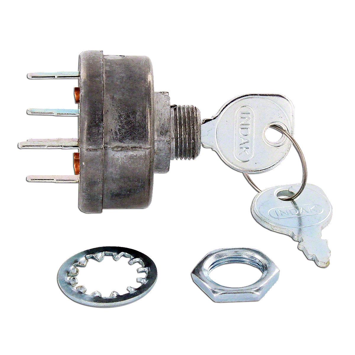 Ignition Switch With Keys For Allis Chalmers: 190XT, D10, D12, D15, D17.