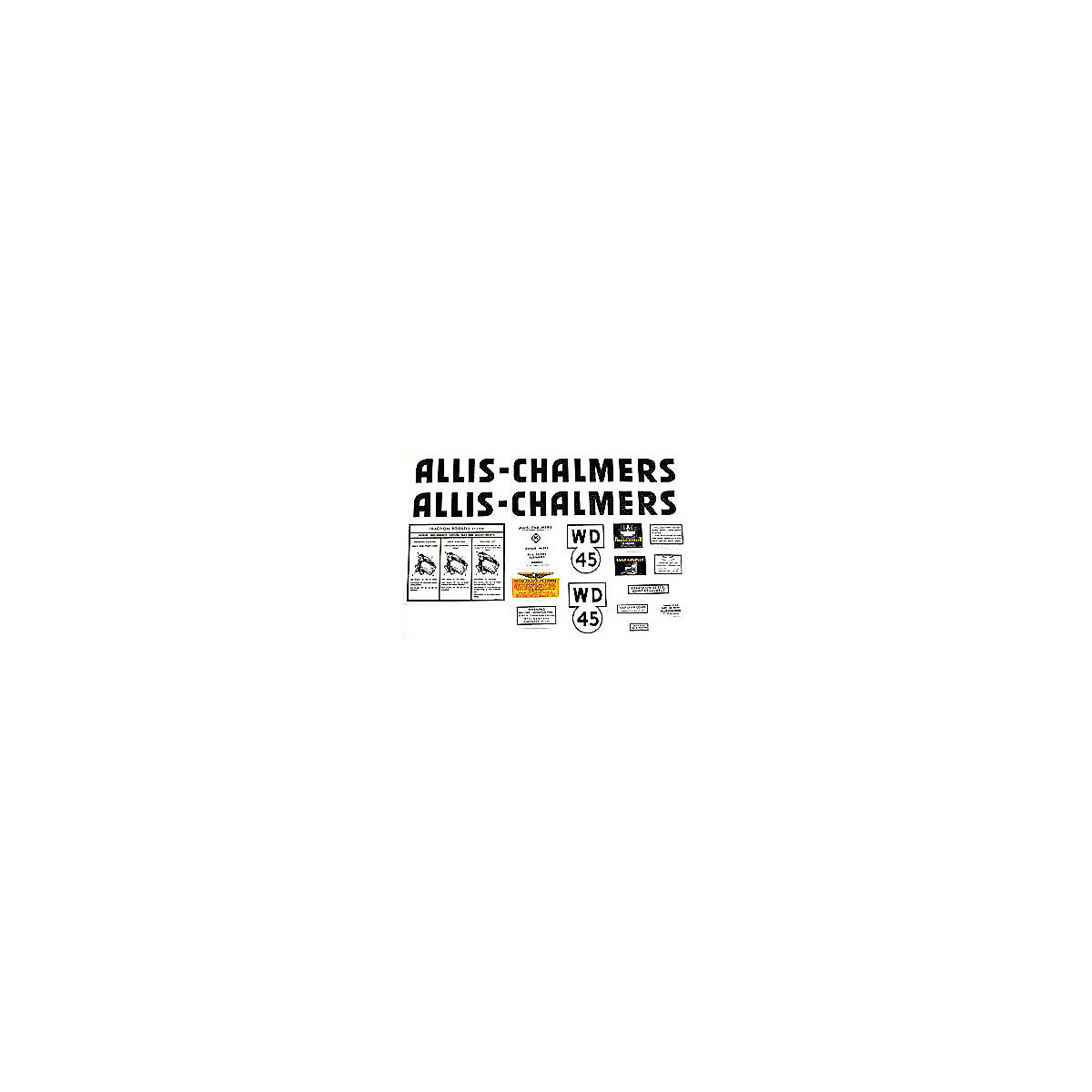 Decal Set For Allis Chalmers: WD45.