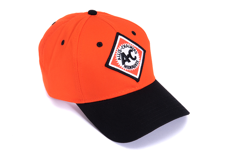 Vintage Style Allis Chalmers Orange Hat with Black Bill - Baseball Cap