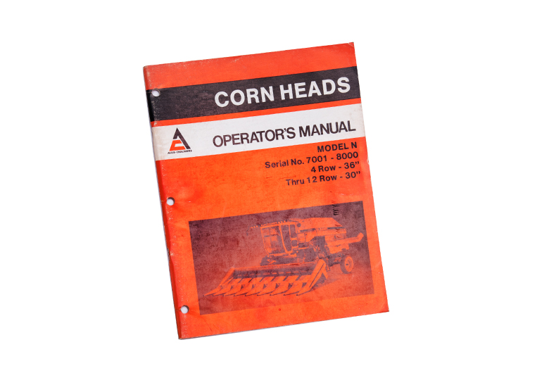 Grain Header Operator & Parts Manuals for Gleaners