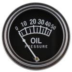 "Oil Pressure Gauge For Allis Chalmers D10, D12, D14, D15, D17, H3, I40, I400, I60, I600, WD45(Diesel Model Tractors). Replaces Allis Chalmers Part#: 228719 Dash Mount 2"" Diameter."