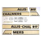 Decal Set For Allis Chalmers D17 Series IV Gas Tractors 1964 and Up SN#:75001 and Up. Replaces Allis Chalmers PN#:241970