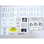 Vinyl Cut Decal Set For Allis Chalmers: WD45. Black Lettering.