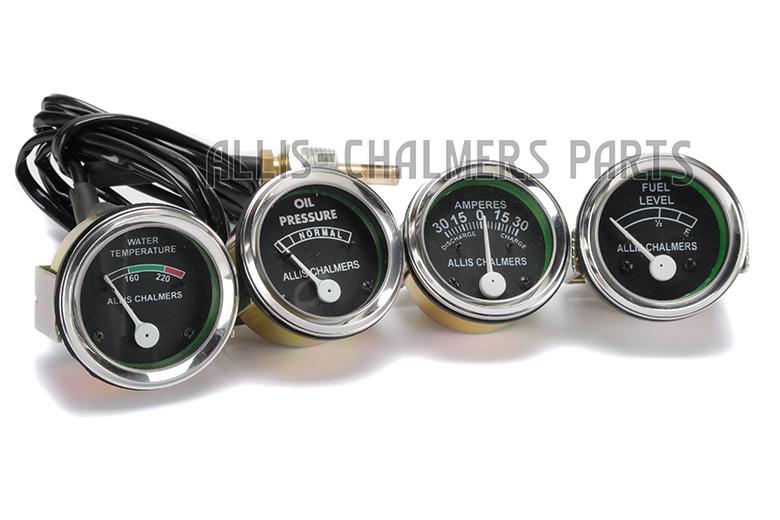 Allis Chalmers Gauges 4 Gauge Kit - WD45 Diesel, D15 Diesel, D17 Diesel, D19