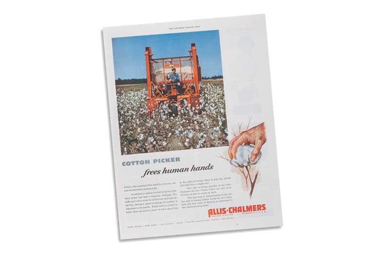 Allis-Chalmers Cotton Picker ad