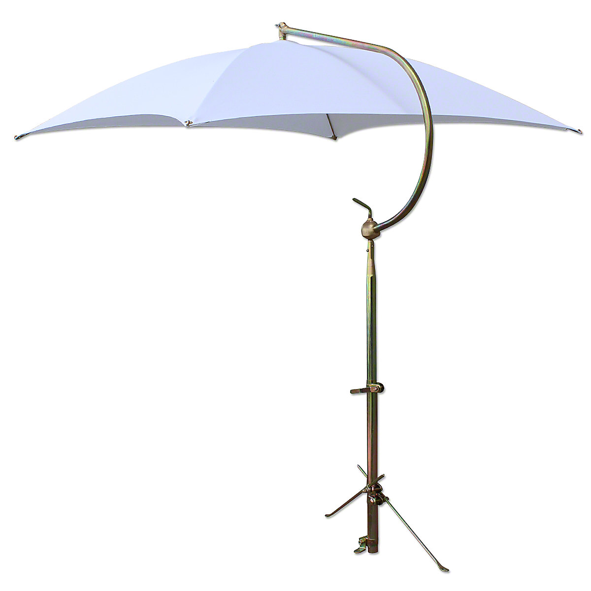 Deluxe White Tractor Umbrella With Mounting Brackets.