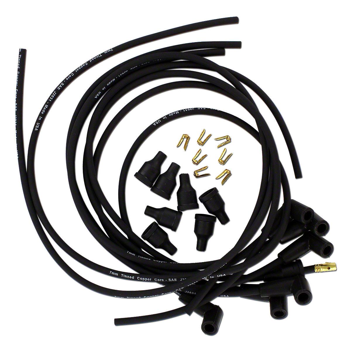 Spark Plug Wire Set For Allis Chalmers: 190XT, D19, 180, 185, 190.