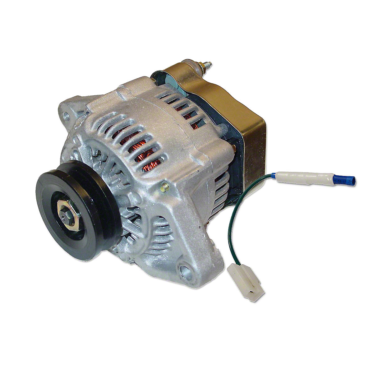Mini 41 Max Amp 12 Volt Alternator With Pulley and Diode For Allis Chalmers Tractor.