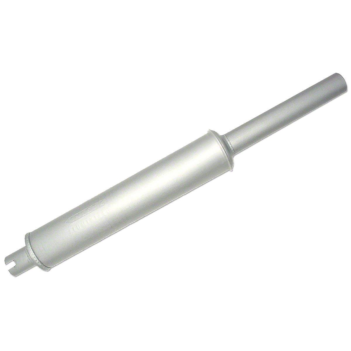 Vertical Thru Hood Round Body Muffler For Allis Chalmers: WC, WD Gas, WD45 Diesel.