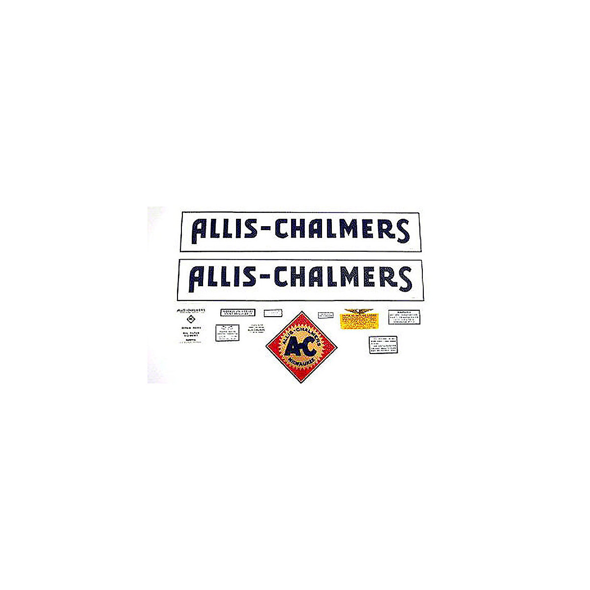 Decal Set For Allis Chalmers WF 1937 to 1940