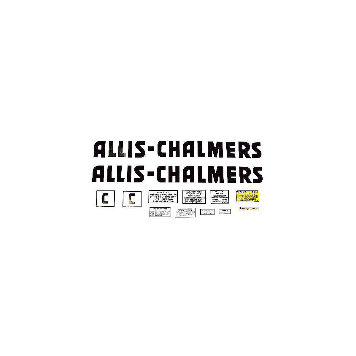 Decal Set For Allis Chalmers C