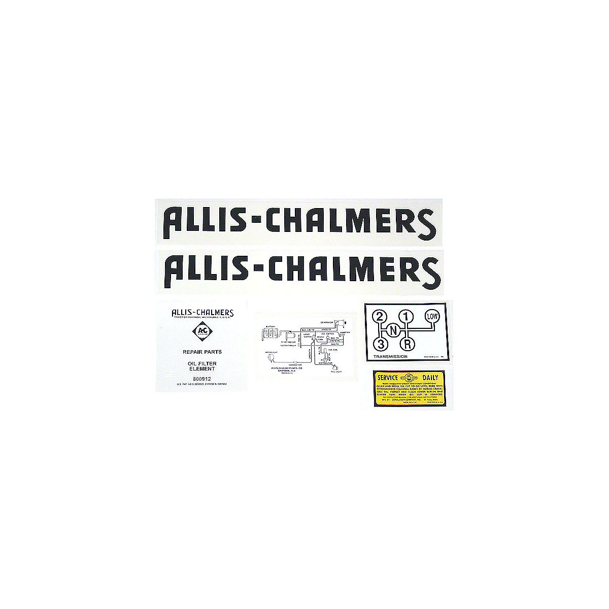 Decal Set For Allis Chalmers: G