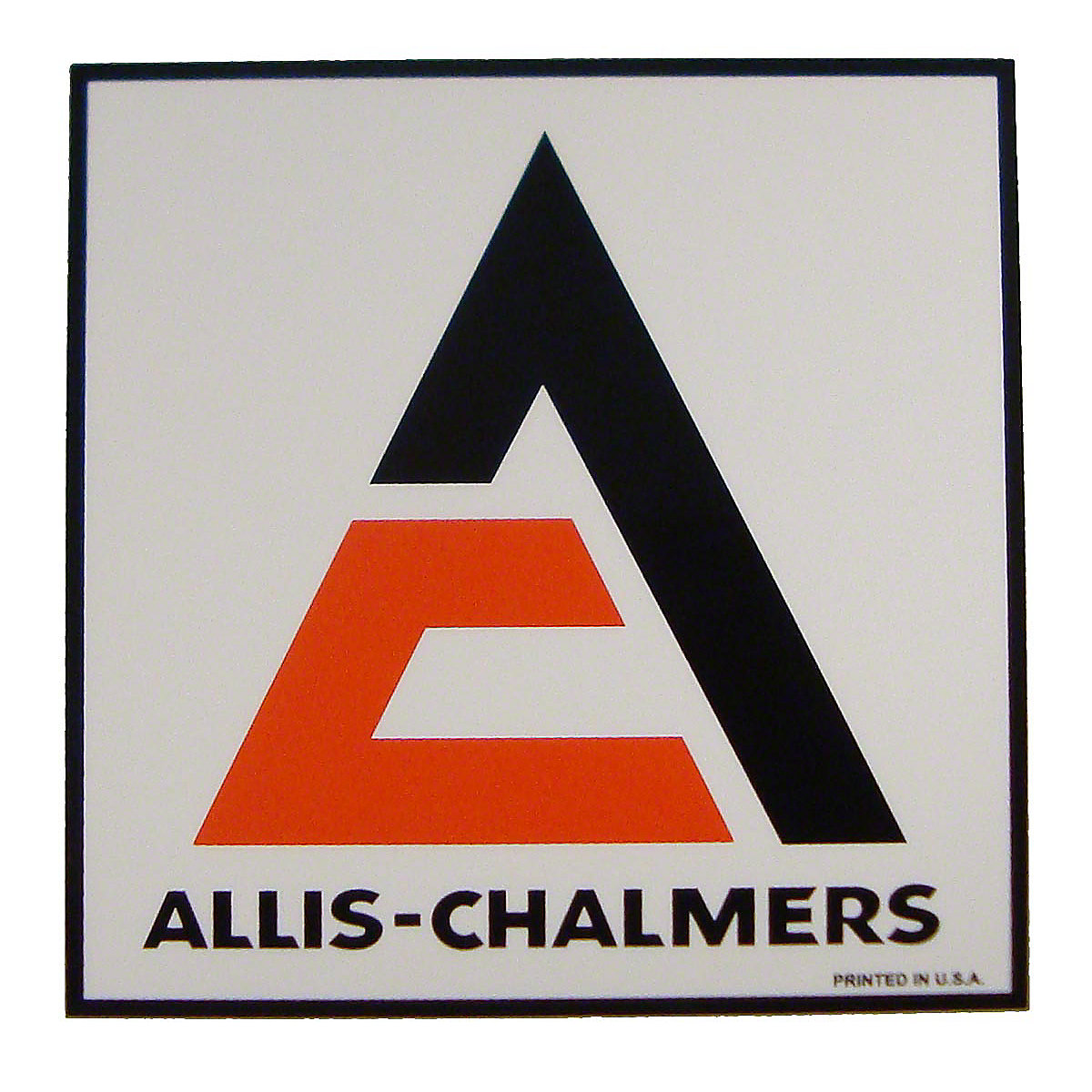 Square Allis Chalmers Decal