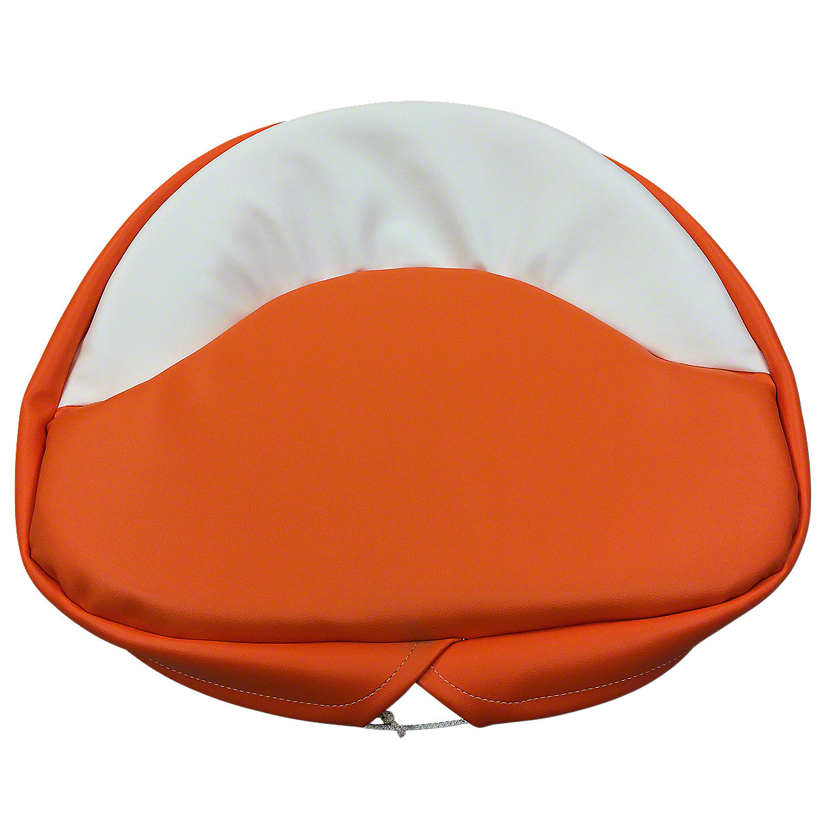 21 Orange And White Seat Pad For Allis Chalmers:  B, C, CA, D10, D12, D14, D15, D17, D19, D21, G, RC, U, WC, WD, WD45, WF, 170, 175, 180, 185, 190, 190XT, 210, 220, 7000, 7030, 7040, 7050, 7060, 7080.