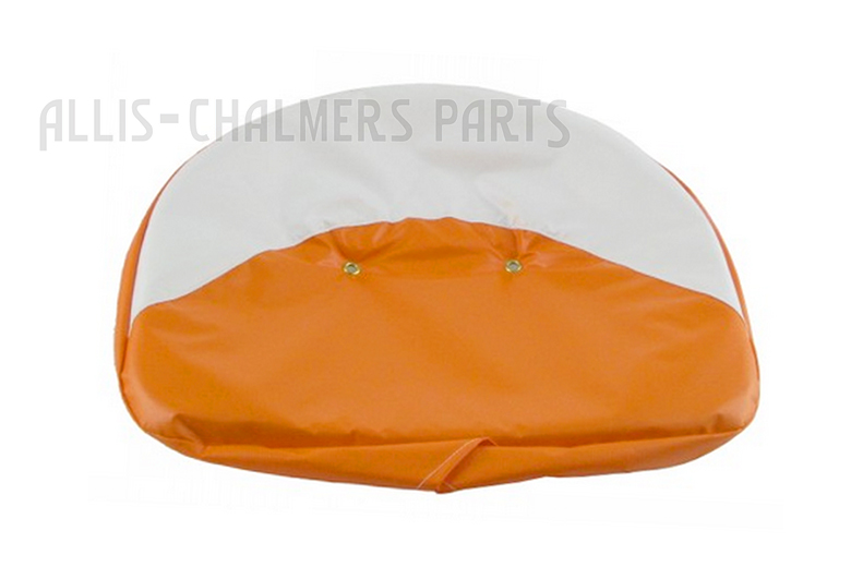 21 Orange and White Draw String Seat Cover For Allis Chalmer: 190XT, 190XT III, B, C, CA, D10, D12, D14, D15, D17, D19, D21, G, IB, WC, WD, WD45, WF, 170, 175, 180, 185, 190