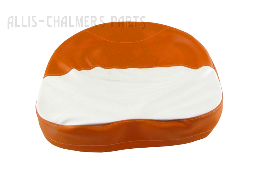 Orange and White Draw String Foam Seat Cover For Allis Chalmers: B, C, CA, D10, D12, G, IB, WC, WD, WD45, WF.