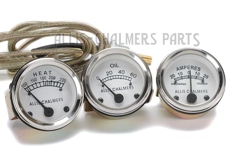 Allis Chalmers D15, D17, WD45 (Diesel) Temperature +Oil Pressure +Ampere Gauge