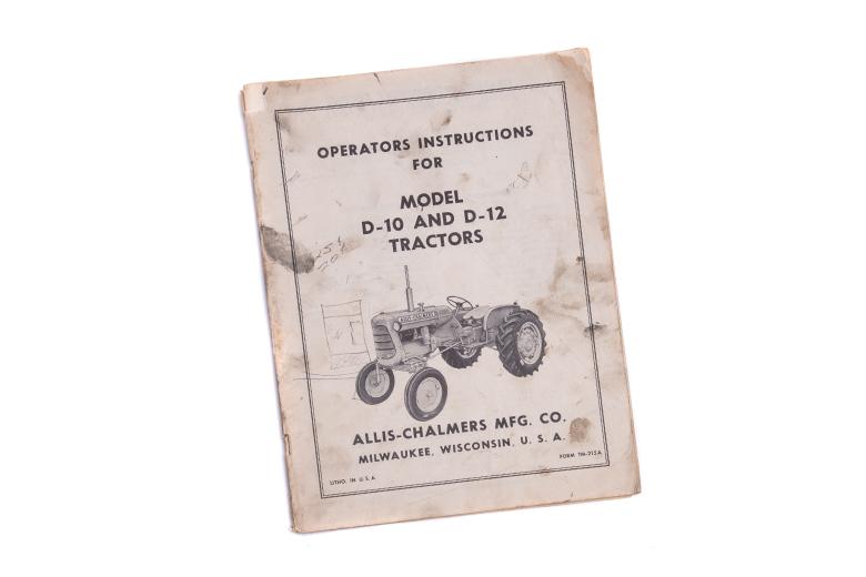 Operators Instructions D-10 And D-12