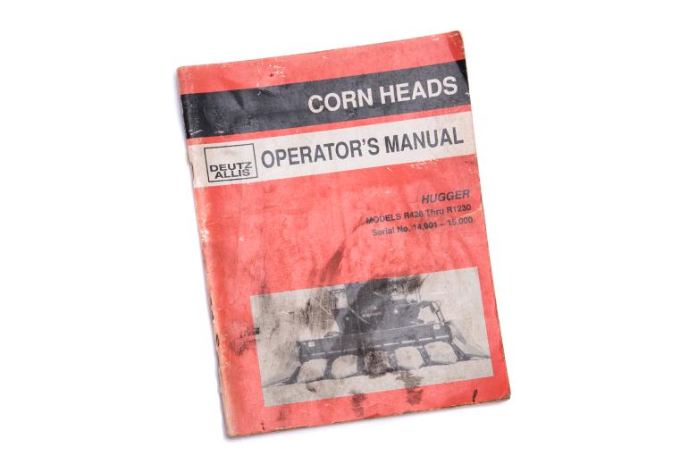 Operator's Manual - Allis Chalmers Corn Heads Hugger Models R428 Thru R1230