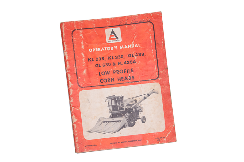 Operator's Manual - Low Profile Corn Heads KL 238, KL330, Gl438, GL63. & FL430A