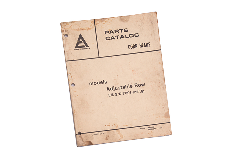 Parts Catalog  - Corn Heads Adjustable Row S/ 7001 And Up