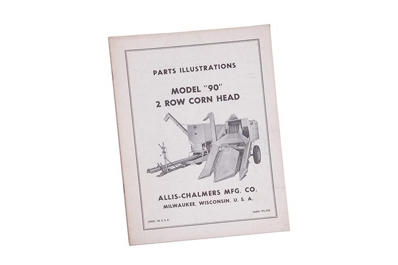 Parts Manual Model 90 2 Row Corn Head Allis Chalmers Parts
