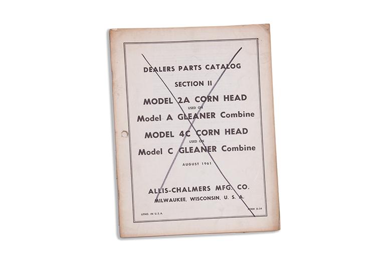 Parts Manual - Model 2A Corn Head