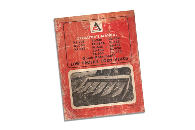 Operator's Manual - Allis-Chalmers  Low Profile Corn Heads