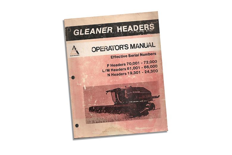 Operators's Manual - Gleaner Headers F, L/M, And N