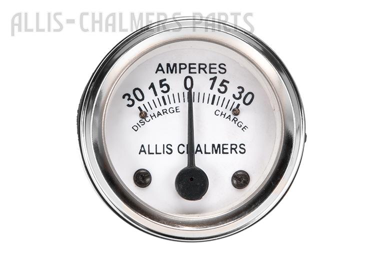 Allis-Chalmers Amp Gauge 30 30  - Allis-Chalmers AC B, C, CA, G, RC, WC, WF, WD, WD45, WD45 Diesel, D10, D12, D14, D15, D17, D19, D21, H3, HD3, 170, 175, 180, 185, 190, 190XT, 200, 210 And 220.