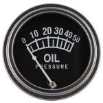 "Oil Pressure Gauge For Allis Chalmers D10, D12, D14, D15, D17, H3, I40, I400, I60, I600, WD45(Diesel Model Tractors). Replaces Allis Chalmers Part#: 228719 Dash Mount 2"" Diameter."