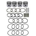 """Rebore Kit For Allis Chalmers: G. 0.020"""" Overbore. Kit Includes Aluminum Flat Top Pistons, Piston Rings, Wrist Pins, 2..395"""" Overbore. Replaces Allis Chalmers PN#: 70800558"""