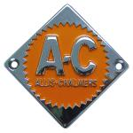 Steering Wheel Emblem For Allis Chalmers: D10, D12 Up to SN#: 1950, I40, I400, I60. Replaces Allis Chalmers PN#: 70228474, 228474.