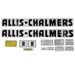 Decal Set For Allis Chalmer B 1944 and Up Black In Color With Even Letters.